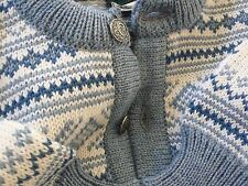New Vtg DALE OF NORWAY NORDIC FAIR ISLE Wool Cardigan Sweater Jumper Size 50