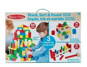 Melissa-amp-Doug-Stack-Sort-amp-Pound-Wooden-Toy-Collection