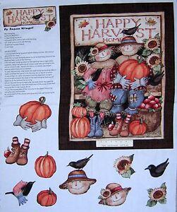 35-034-Fabric-Panel-Fall-Autumn-Door-Panel-Harvest-Couple-Springs-Cotton