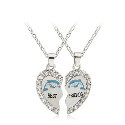 """3PCS//Set Friendship /""""Best Friends Forever/"""" Heart Pendants Necklaces For Children"""