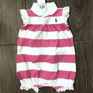 ebea3c0a Details about NWT Girls Ralph Lauren Romper age 3 months, 6 months