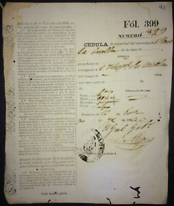 1863-Antilles-Colonial-Slavery-Rare-ID-Document-for-Emancipated-Criolla-Slave
