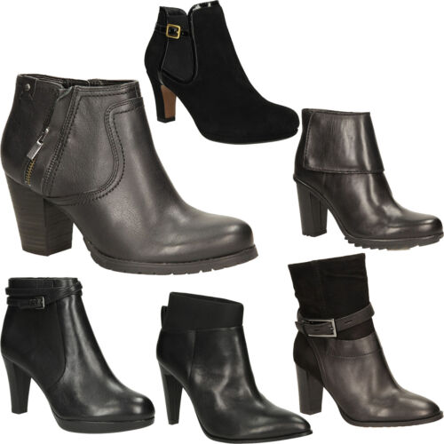 Damen Modisch Clarks reißverschluss Halbschuhe Stiefel Gr36 Neu Slipper 41 fIYb7y6gv