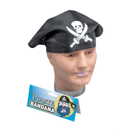 Fancy Dress Party Black Fancy Dress Head Skull /& Crossbone Pirate Bandana