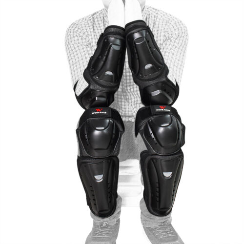 WOSAWE Motorcycle Knee Elbow Pads Set Protector Gear Motocross Shin Guards Adult