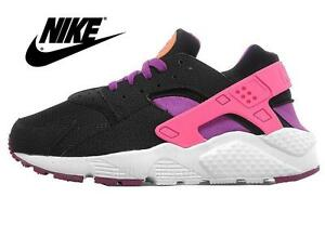 nike huarache orange and black