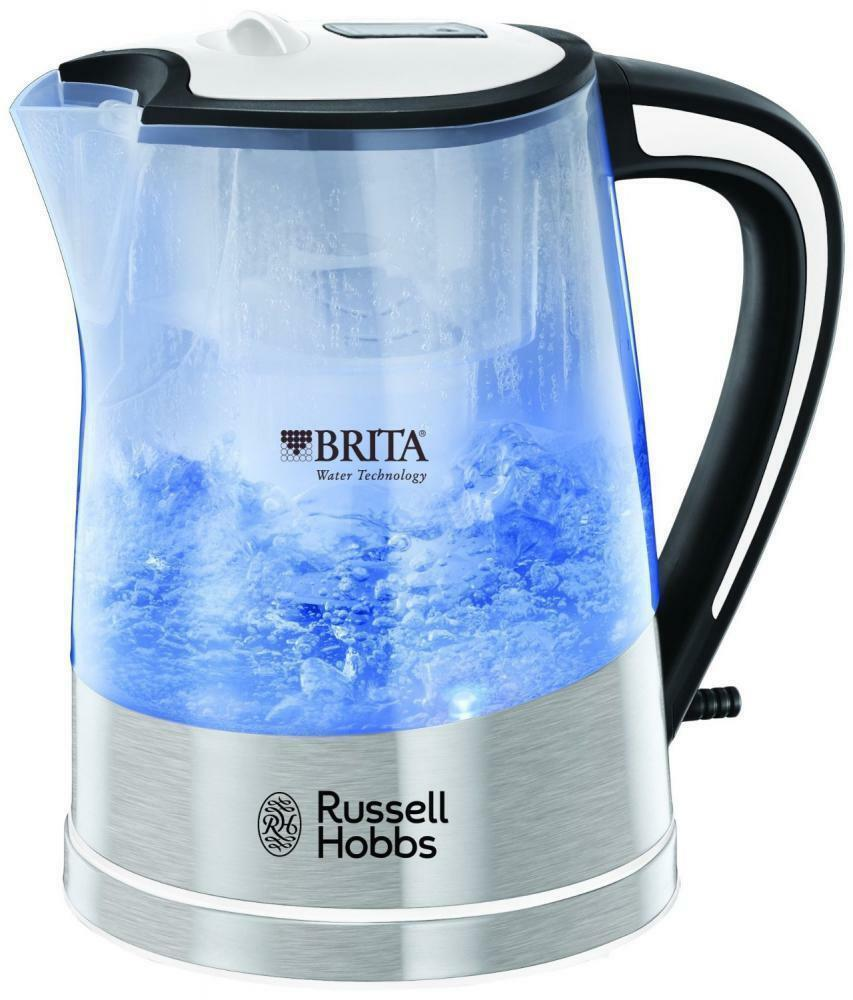 Russell Hobbs RU-22851 1L Plastic Brita Filter 3000W Purity Kettle - Transparent