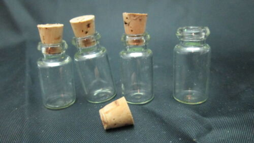 Dollhouse Glass Bottle Set//4 Cherry Motif w Corks Novel Idea RA0129 Miniature