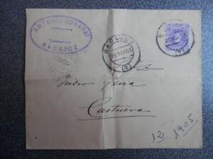 SOBRE-ANO-1905-CON-FECHADORES-DE-CASTUERA-BADAJOZ-MEMBRETE-COMERCIO-PoLVORA