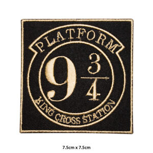 Harry-Potter-Platform-9-3-4-Movie-Comic-Embroidered-Patch-Iron-on-Sew-On-Badge