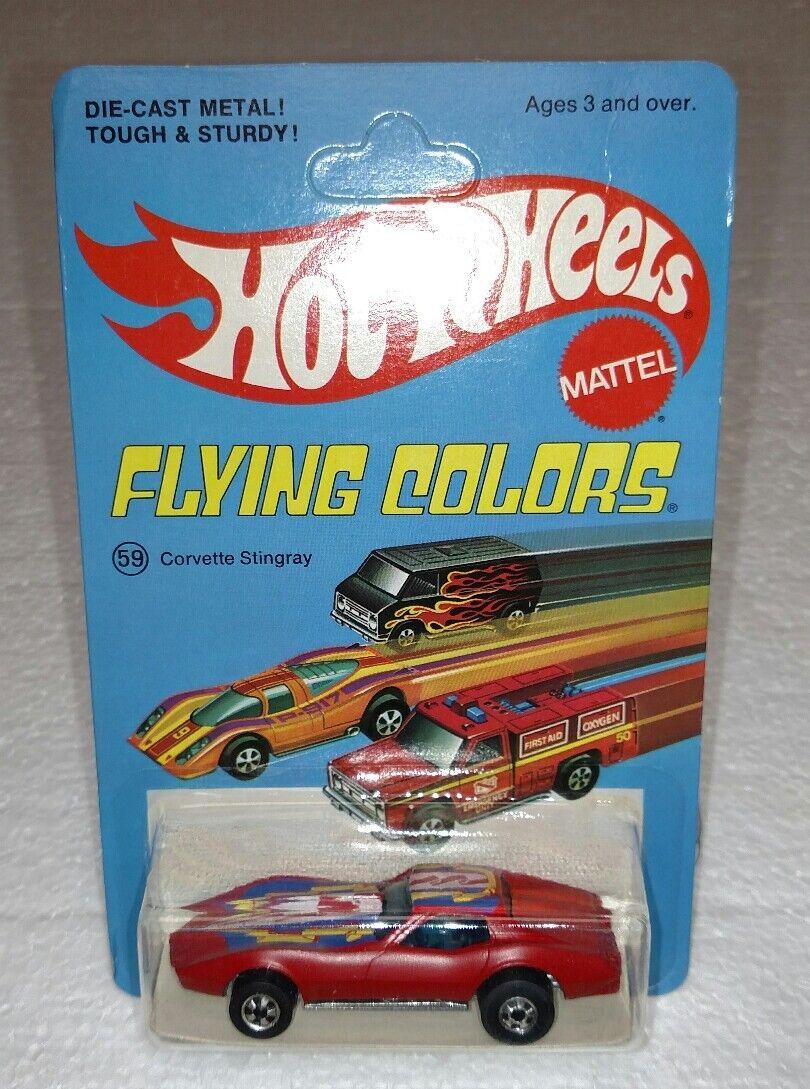 Hot Wheels Mattel Corvette Stingris Flying Colors raro no producción Esmalte Rojo