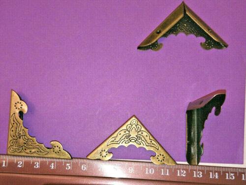 XL Antique Bronze 4x METAL BOOK CORNERS 40mm Side BOX JOURNAL NOTEBOOK MYO CRAFT