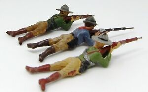Vintage-Elastolin-Composite-Cowboys-70mm-Pre-1940-Toy-Soldiers-Made-in-Germany