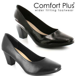 womens court shoes ladies wide fitting classic casual