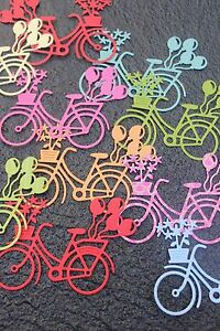 Handmade-Diecut-Bike-with-Balloons-and-Flowers-Embellishment-x-6PC