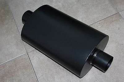 """Toyota Universal 3/"""" Inlet Outlet Oval Turbo Muffler Black Camry Celica Corolla"""