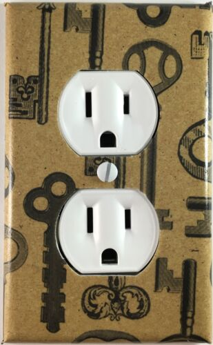 Skeleton Key Single Toggle Decorative Light Switch Cover Outlet Wall Plate