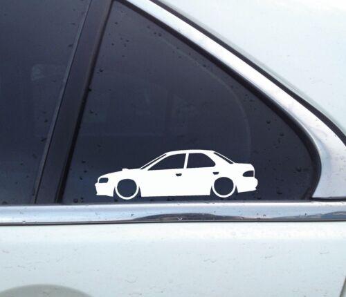 No wing for Subaru Impreza WRX sedan GC8 GC 2x Lowered car outline stickers