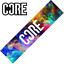 CORE Stunt Scooter Griptape Grip Tape Deck Classic Neon Galaxy Adhesive Trick