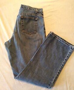 Jones-New-York-Sport-Women-039-s-Straight-Leg-High-Waist-Denim-Blue-Jeans-Size-10