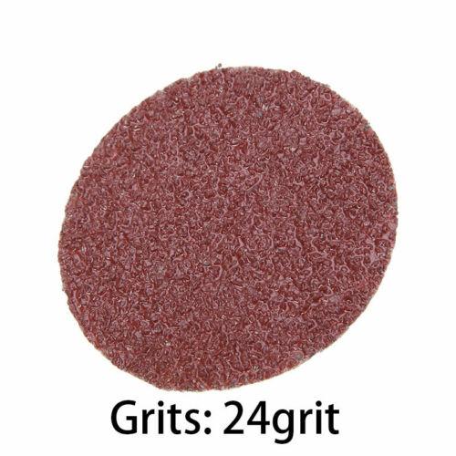 25//50PCS Roloc Sanding Discs Roll Lock R-Type Pad 24//36//60//80//120//180//240 Grit