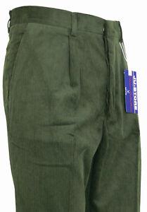 21e2d19a14f1b8 Caricamento dell'immagine in corso Pantalone-velluto-Uomo-classico-a-coste- larghe-con-