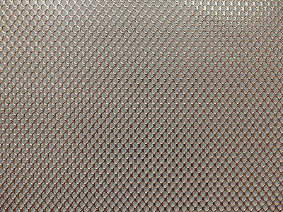 Natural Copper Mesh Sheet, Metal is 0.7mm thick, Sample size 100mm x 100mm