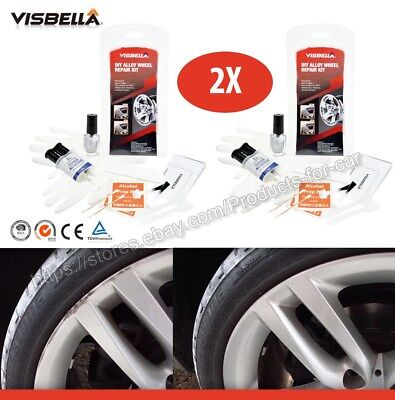 Visbella Diy Alloy Wheel Rim Hubcaps Scuff Scratch Repair Kit 2x Alufelgen Felge Ebay