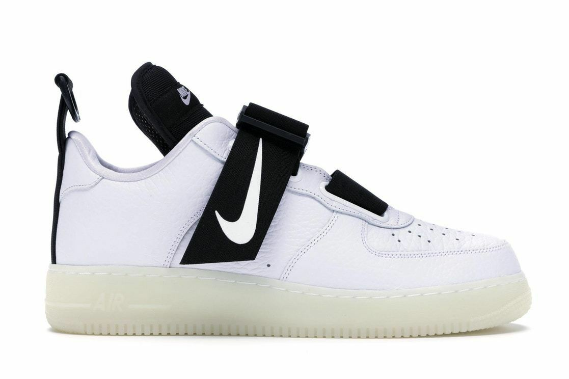 Mens Nike Air Force 1 Low Utility QS White Black AV6247-100