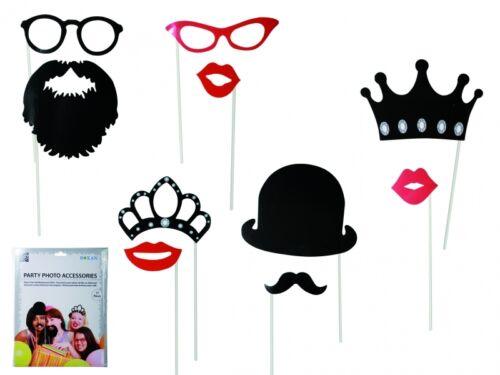 Fotorequisiten, Foto Accesso Party Foto Verkleidung auf Stick Photo Booth Set
