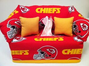 Tremendous Details About Nfl Kansas City Chiefs Tissue Box Cover Handmade Bralicious Painted Fabric Chair Ideas Braliciousco