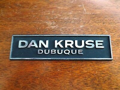 Dubuque Car Dealerships >> Dan Kruse Dubuque Iowa Ia Car Dealer Plastic Emblem Badge Plate Auto Ebay