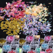 Paper Acrylic Shell Ice Mylar Glitter Art Manicure 12Colors Nail Foil Decoration