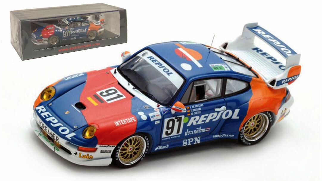 SPARK S5512 PORSCHE 911 GT2  91 'Heico-Repsol  LE MANS SCALA 1995 -