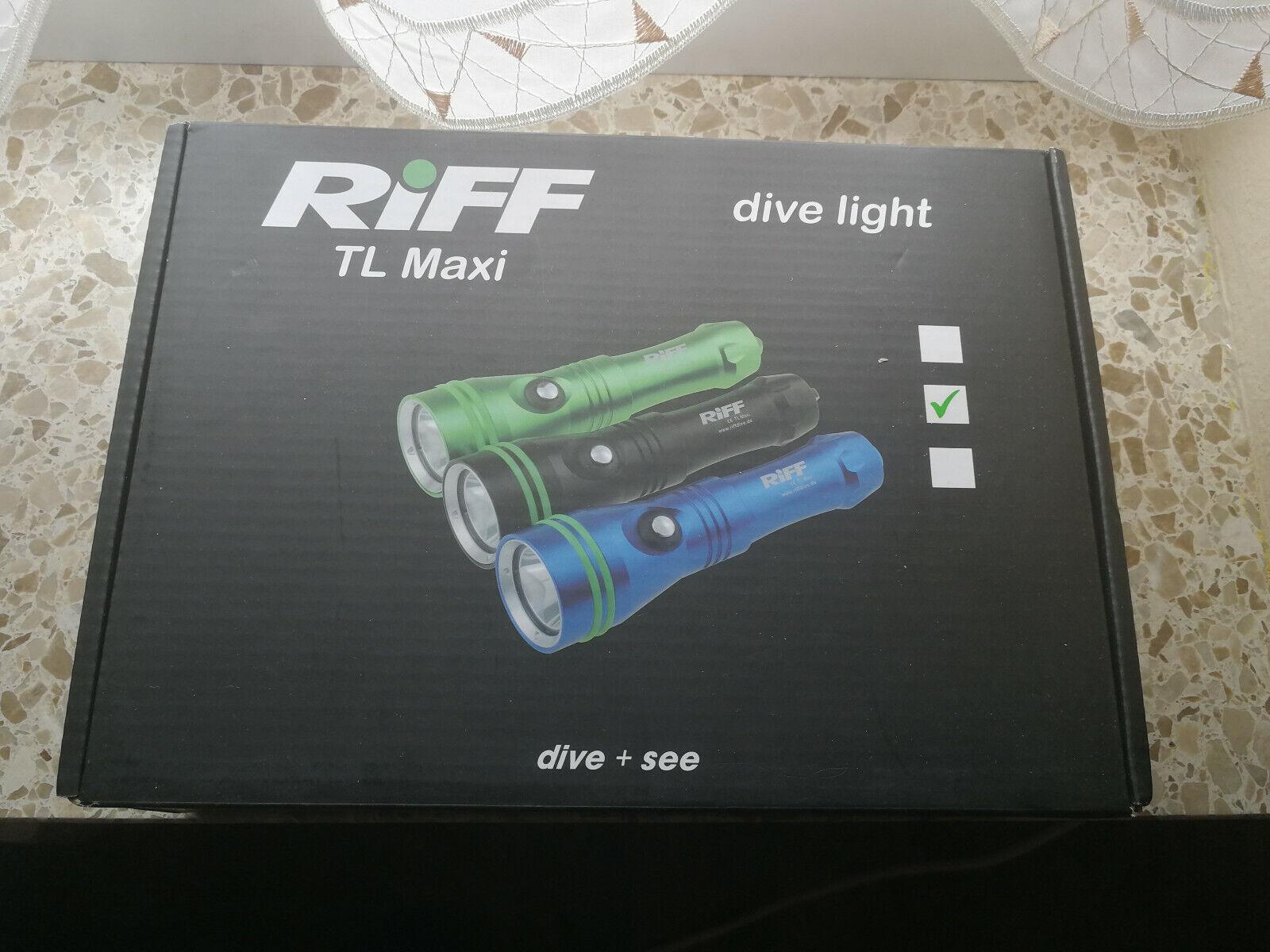 Riff TL MAXI  Tauchlampe 1200 Lumen Unterwasser Leuchte