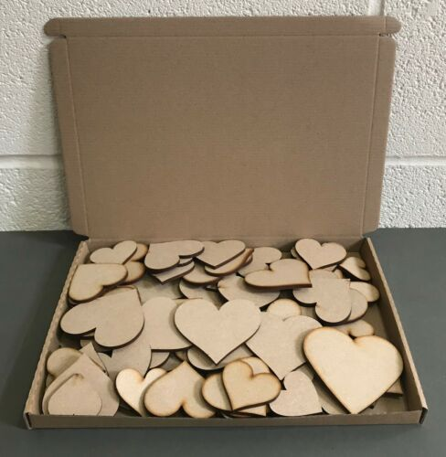 HA1 Wooden Hearts  MDF Family Tree Shape with Personalised Family