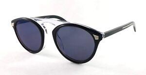 0b3fadbc861 Christian Dior HOMME TAILORING2 JBWXT Black Blue Clear Sunglasses 52 ...