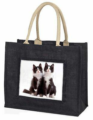zwei schwarz und weiß Katzen große Einkaufstasche Weihnachtsgeschenk I,ac-127blb