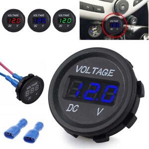 Details About 12v 24v Car Marine Motor Led Digital Voltmeter Voltage Meter Battery Gauge Hot