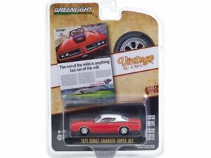 DODGE Charger Super Bee - 1971 - red / white - Greenlight 1:64