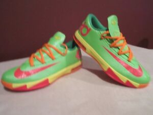 d9514f3f737 NIKE KD Vl CANDY (599477 300) BASKETBALL SNEAKERS BOYS SIZE 5.5Y