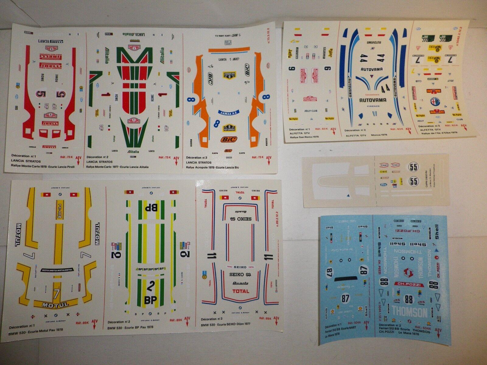 Lot de 5 planches de décalques Cartograf pour 1 43