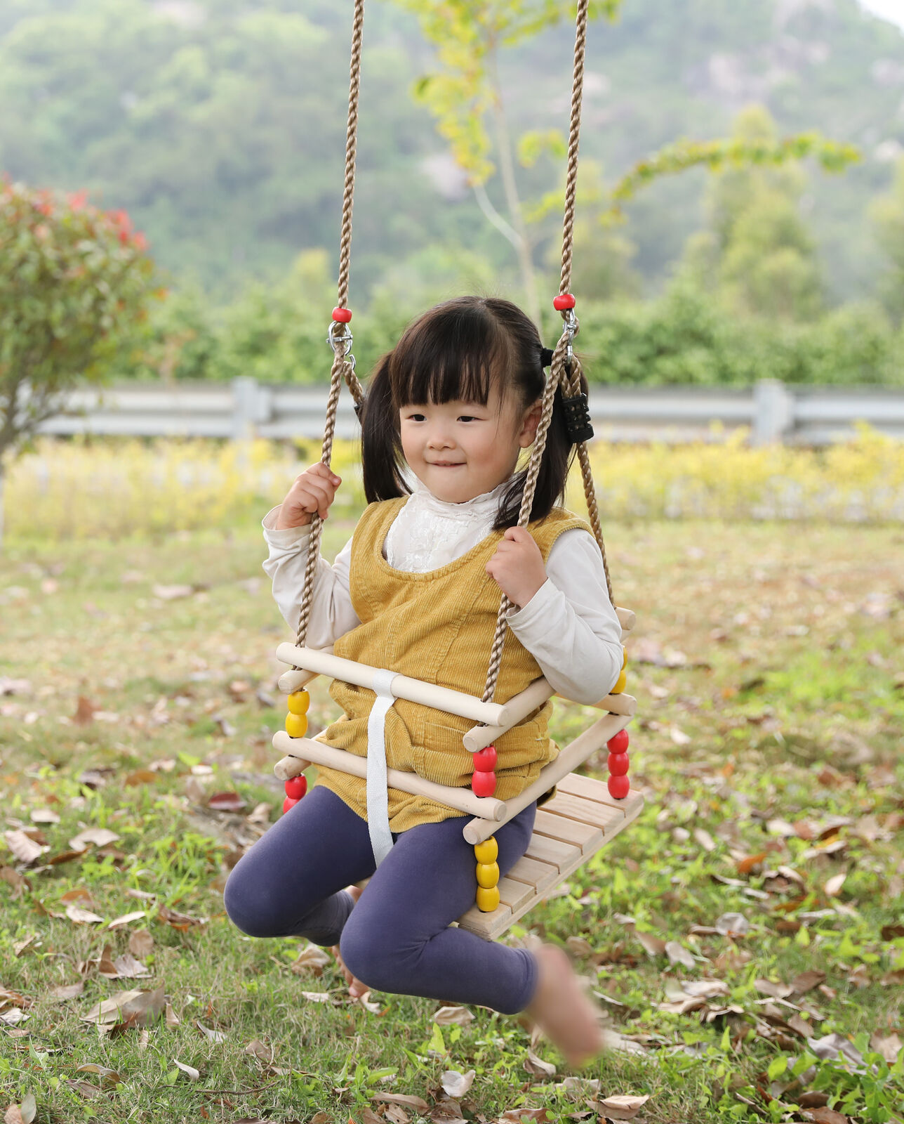 New New New PLAYBERG Wooden Baby Swing with Hanging Ropes, for Babies and Toddlers 75ff68