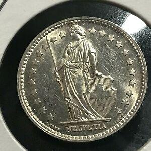 1952-SWITZERLAND-SILVER-FRANC-BRILLIANT-UNCIRCULATED-COIN