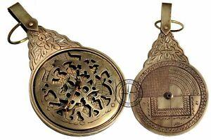 Antiker-Astrolabe-Arabischer-Kalender-Arabischer-Globus-Navigationsastrologische