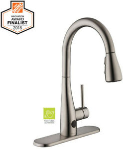 Details about Touchless Kitchen Faucet Single-Handle Pull-Down Sprayer Head  Motion Sensor