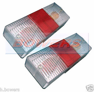 2x CATERHAM/WESTF<wbr/>IELD CLEAR LOOK REAR TAIL LAMP LIGHT CLUSTER REPLACEMENT LENS