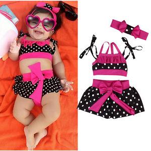 23200e53ff Image is loading USA-Toddler-Baby-Girl-Tankini-Bikini-Swimwear-Swimsuit-