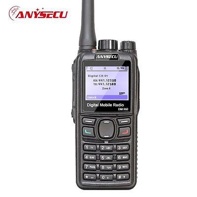 Anysecu DM960 Digital UHF Walkie Talkie Compatible with MOTOTRBO 2 Way Radio