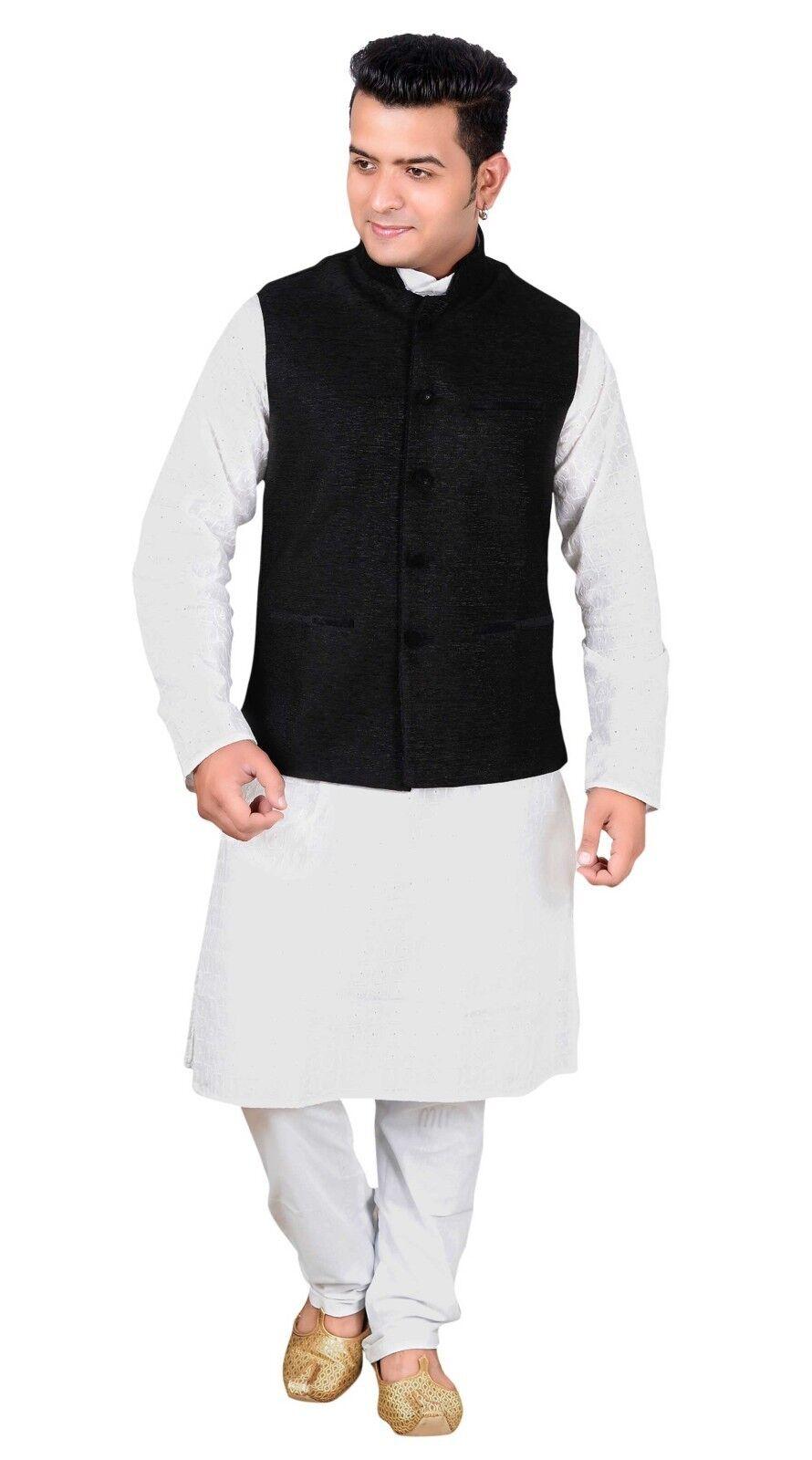 Men's Modi Nehru & Gandhi style ONLY Waistcoat without Kurta Pyjama apparel 1013